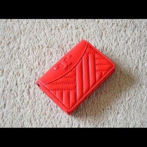 Tory Burch Leather Alexa Mini Wallet in Poppy